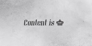 vsebina je kralj
